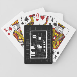 "Card deck ""Labyrinth of squares"" black and white Poker Deck"