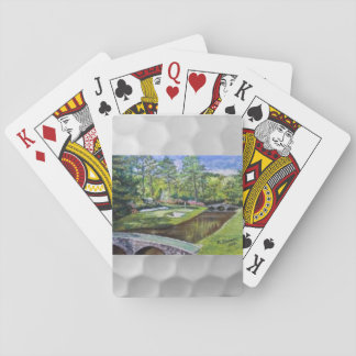 Card deck with golfland painting playing cards