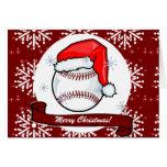 Card - Decorative Santa Baseball