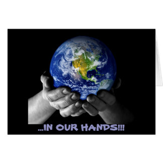 CARD- EARTH HANDS GREETING CARD
