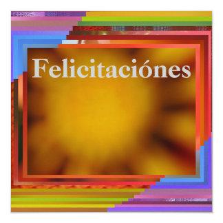 "Card - Felicitaciónes - Abstract Art 5.25"" Square Invitation Card"