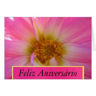 Card - Feliz Aniversário - La Dalia Rosada