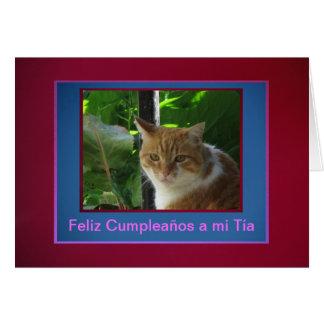 Card - Feliz Cumpleaños a mi Tía - Señor Gato
