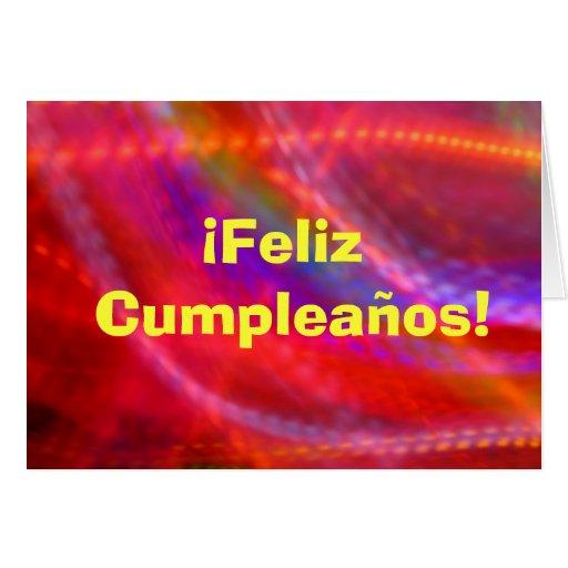 Card - Feliz Cumpleaños - Multicolor Greeting Card