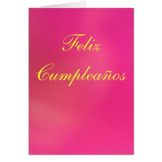 Card - Feliz Cumpleaños - Rosa