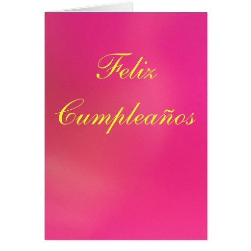 Card - Feliz Cumpleaños - Rosa Greeting Cards