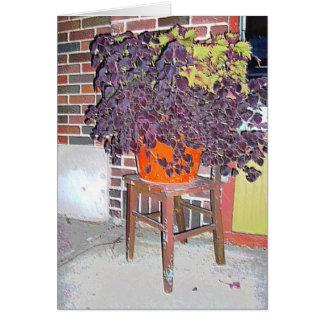 Card: Flowerpot & Chair in Linden Hills-Mpls., MN Greeting Card