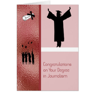 Card for a Degree in Journalism
