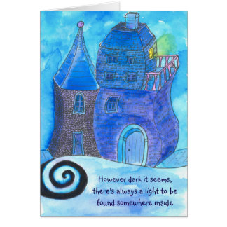 Card for encouragement - finding light in darkness