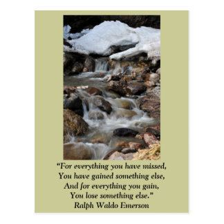 "Card ""For everything you have missed"" -Emerson Postcard"