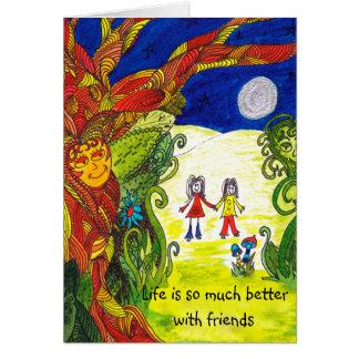 Card for friends - appreciation