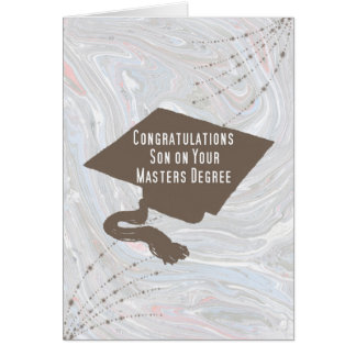 Card for Son Receiving Masters Degree