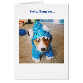 Card for your Love - Baby Corgi in Dragon Costume