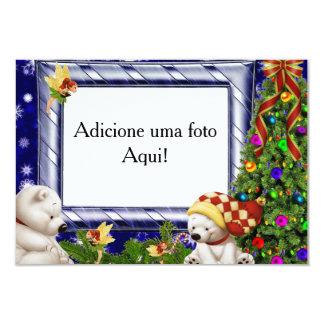 "Card frame for photo ""natalino polar Bear "" 9 Cm X 13 Cm Invitation Card"