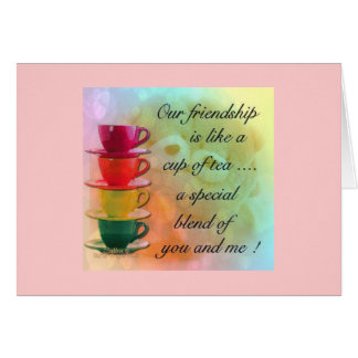 CARD- FRIENDSHIP TEA GREETING CARD