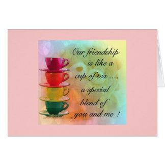 CARD- FRIENDSHIP TEA GREETING CARD