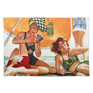 Card Game at the Beach by Alex Ross Placemats