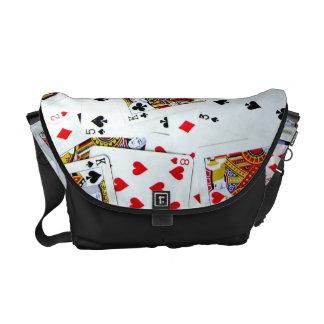 Card game fan bag messenger bags