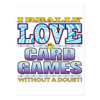 Card Games Love Face Postcard