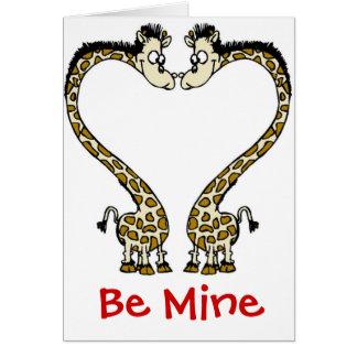 Card-Giraffe Love Couple Valentine