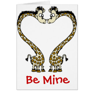 Card-Giraffe Love Couple Valentine Card