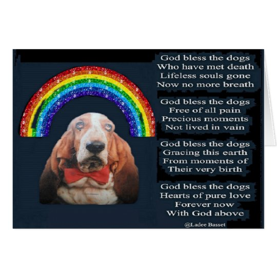 Card God Bless The Dogs Poem