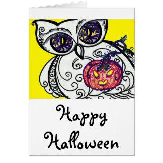Card Happy Halloween Owlivia & Jackie-O