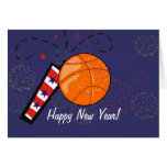 Card - Happy New Year Basketball