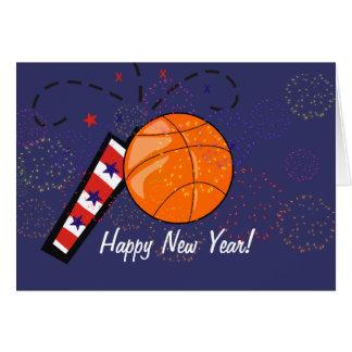 Card - Happy New Year Basketball