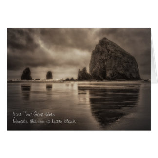 Card: Haystack Rock And Needles Toned Card