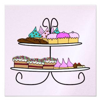 card high tea with cup cakes