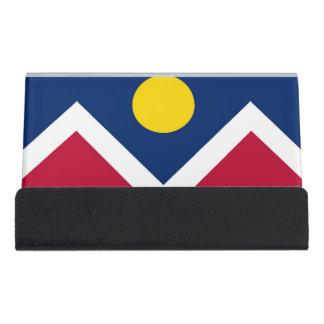 Card Holder with flag of Denver City, USA