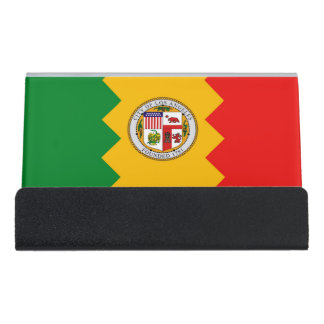 Card Holder with flag of Los Angeles, USA
