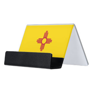 Card Holder with flag of New Mexico State, USA