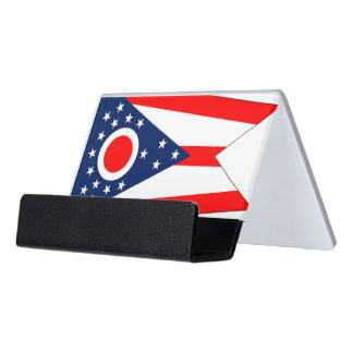 Card Holder with flag of Ohio State, USA