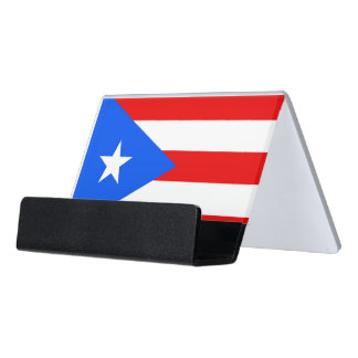Card Holder with flag of Puerto Rico, USA