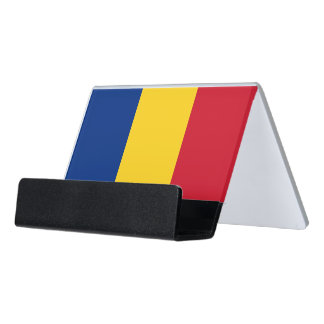 Card Holder with flag of Romania