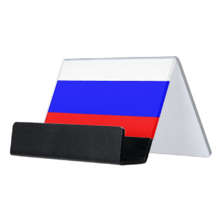 Card Holder with flag of Russia