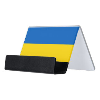 Card Holder with flag of Ukraine