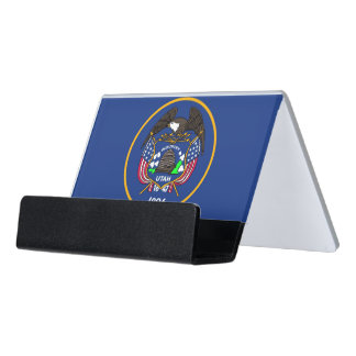 Card Holder with flag of Utah State, USA