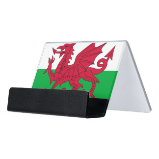 Card Holder with flag of Wales
