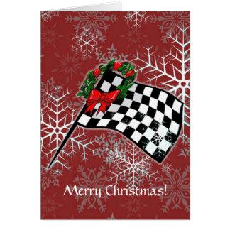 Card - Holiday Racing Flag
