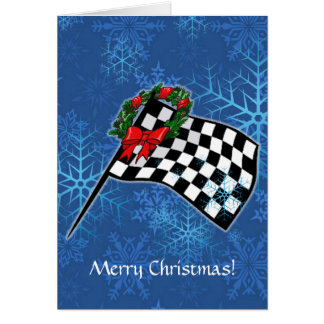 Card - Holiday Racing Flag