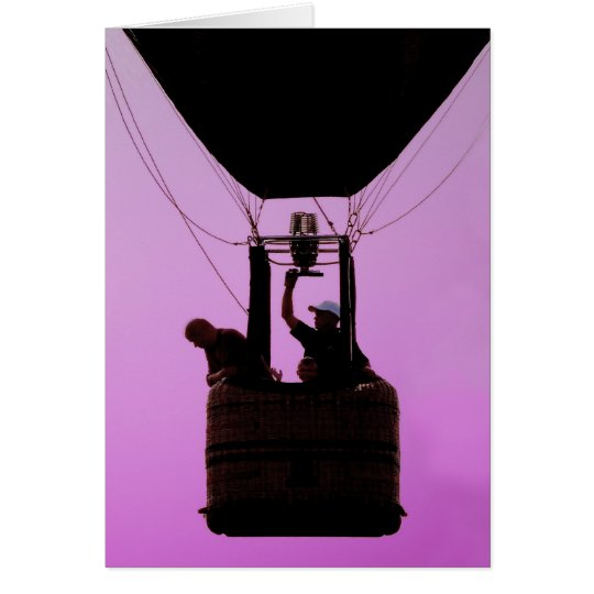 Card - Hot Air Balloon Sillouette (Blank Inside)