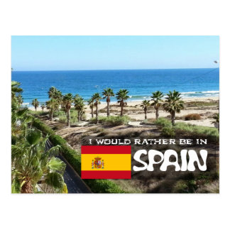 [Card] I'd rather be in Spain Postcard