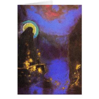 Card/Invitation: Virgin Mary with Corona by Redon Card