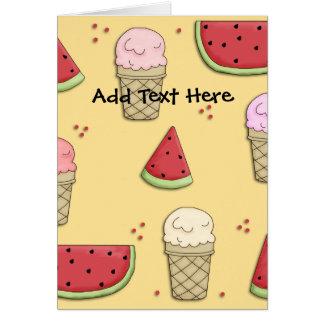 Card Kid's Ice Cream Watermelon