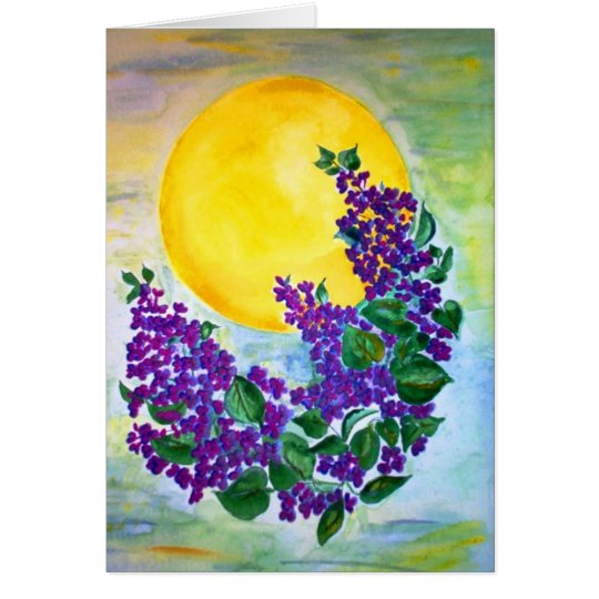 Card Lilacs in Midsummer sun