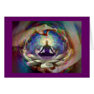 CARD-LOTUS GREETING CARD