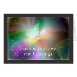 CARD- LOVE & BLESSINGS GREETING CARD